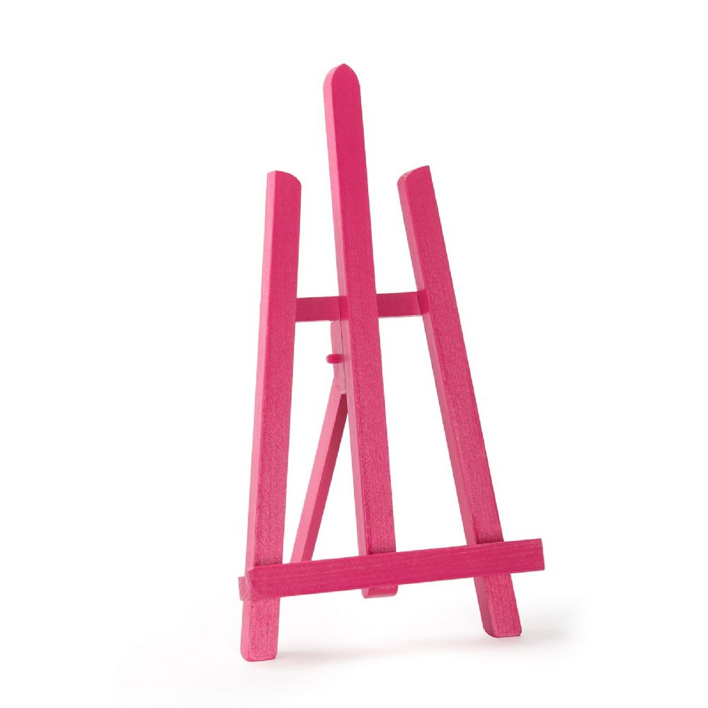 "Pink Colour Easel Essex 16"" - Beech Wood"